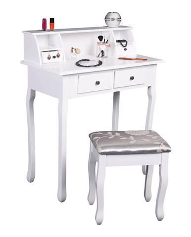 Rodes New toaletný stolík s taburetkou biela