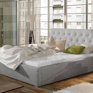 Monzo UP 160 čalúnená manželská posteľ s roštom svetlosivá (Sawana 21)