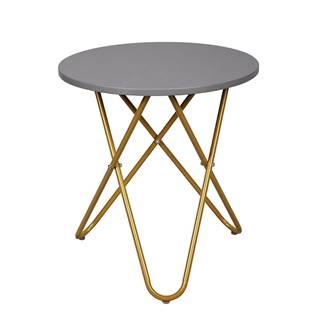 Rondel okrúhly príručný stolík sivá