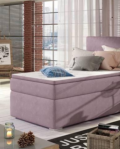 Rodrigo 90 P čalúnená jednolôžková posteľ s úložným priestorom fialová
