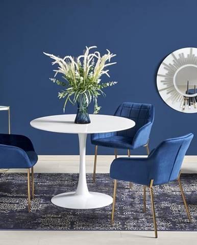 Slim okrúhly jedálenský stôl biela