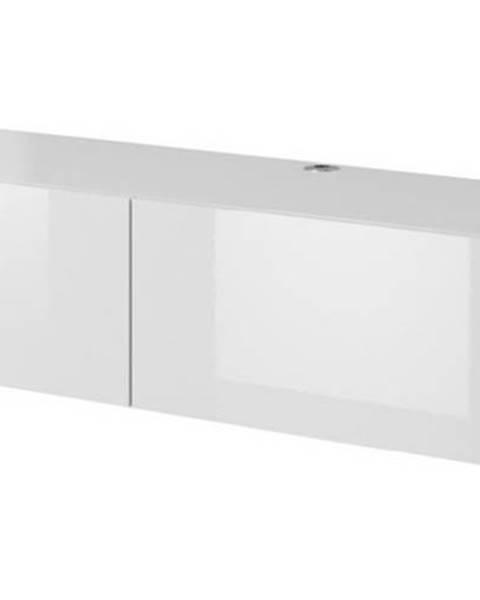 CAMA MEBLE Slide 150 tv stolík na stenu biela