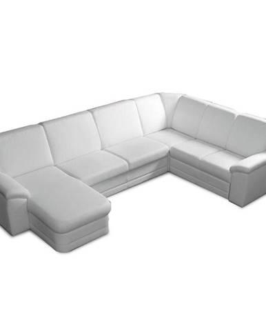 Biter U L rohová sedačka u s rozkladom a úložným priestorom biela