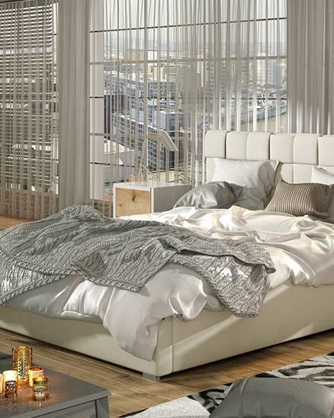 NABBI Galimo UP 180 čalúnená manželská posteľ s roštom béžová