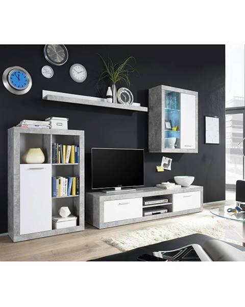 Tempo Kondela Klark obývacia stena s osvetlením biela
