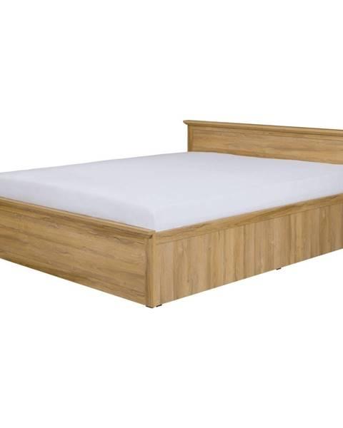 Tempo Kondela Leon MZ21 manželská posteľ s roštom dub grand