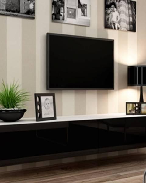 CAMA MEBLE Vigo 180 tv stolík na stenu biela