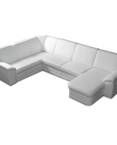 Biter U P rohová sedačka u s rozkladom a úložným priestorom biela