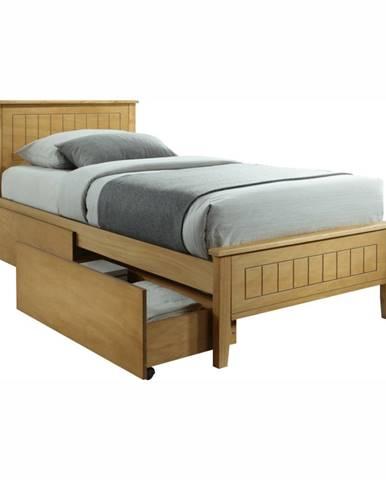 Midea jednolôžková posteľ s roštom dub