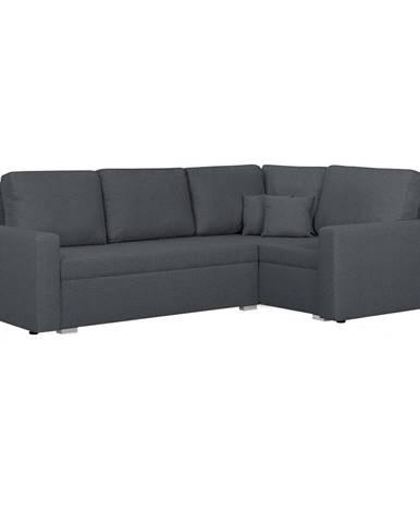 Milor P rohová sedačka s rozkladom a úložným priestorom sivá