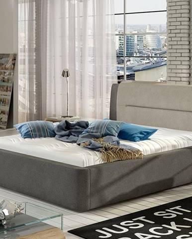 Portima 160 čalúnená manželská posteľ tmavosivá