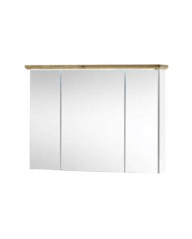 Toskana kúpeľňová skrinka so zrkadlom biela