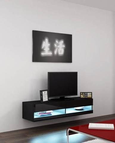 Vigo New 140 tv stolík na stenu čierna