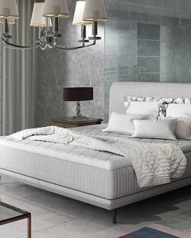 Ancona 160 čalúnená manželská posteľ svetlosivá (Sawana 21)