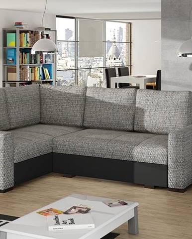 Castelo L rohová sedačka s rozkladom a úložným priestorom sivá