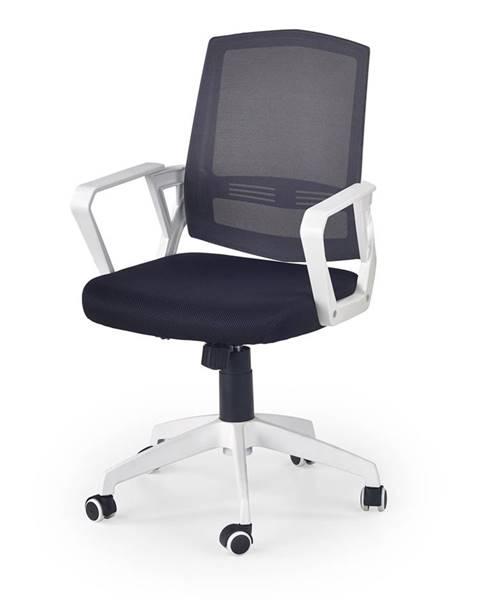 Halmar Ascot kancelárska stolička s podrúčkami čierna