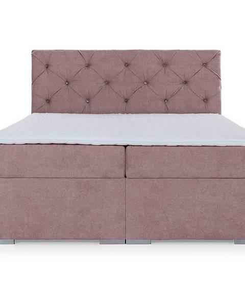 NABBI Beneto 160 čalúnená manželská posteľ s úložným priestorom ružová (Soro 61)