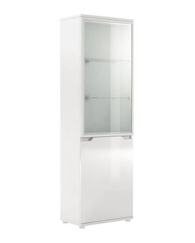 Adonis AS 10 vitrína s osvetlením biela