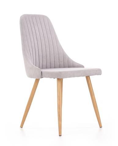 K285 jedálenská stolička svetlosivá