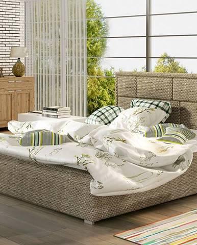 Liza UP 200 čalúnená manželská posteľ s roštom cappuccino