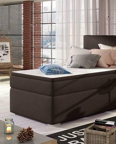 Rodrigo 90 P čalúnená jednolôžková posteľ s úložným priestorom tmavohnedá