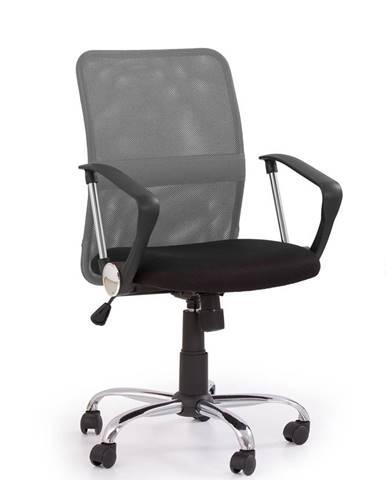 Tony kancelárska stolička s podrúčkami sivá