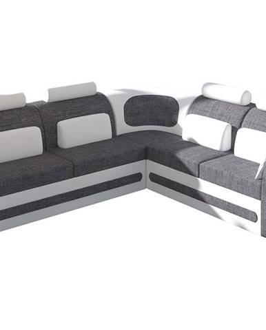 Bolzano P rohová sedačka s rozkladom a úložným priestorom sivá (Sawana 05)