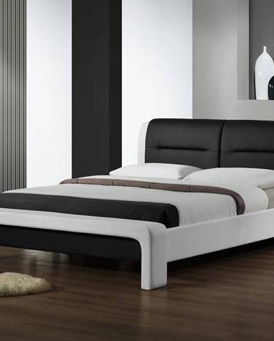 Cassandra 160 čalúnená manželská posteľ s roštom biela