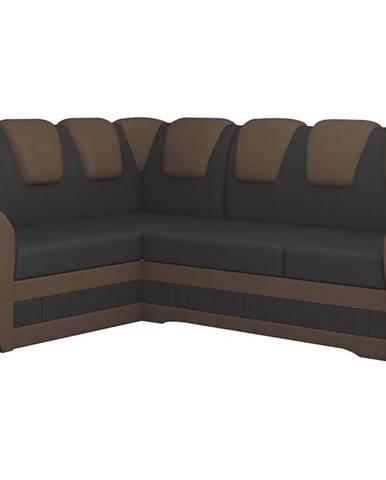 Latino II L rohová sedačka s rozkladom a úložným priestorom tmavohnedá