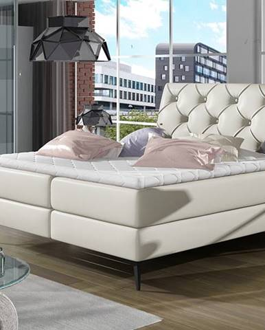 Lazio 160 čalúnená manželská posteľ s úložným priestorom béžová