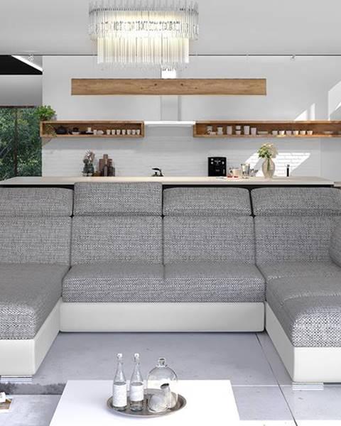 NABBI Ermo U P rohová sedačka u s rozkladom a úložným priestorom sivá (Berlin 01)