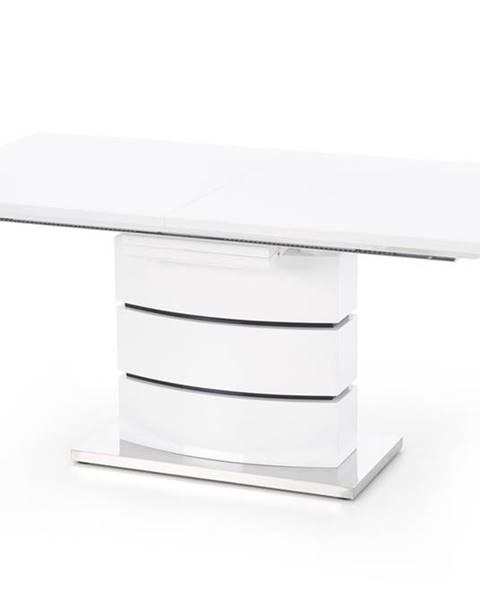 Halmar Nobel rozkladací jedálenský stôl biely lesk
