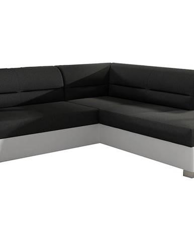 Balmi P rohová sedačka s rozkladom a úložným priestorom čierna (Sawana 14)