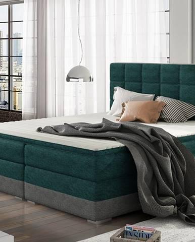 Dalino 180 čalúnená manželská posteľ s úložným priestorom svetlomodrá