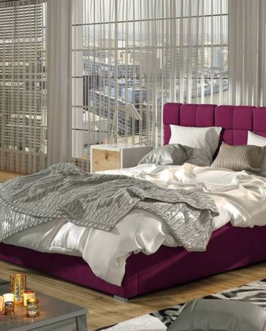 Galimo UP 180 čalúnená manželská posteľ s roštom vínová