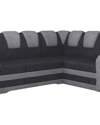 Latino II P rohová sedačka s rozkladom a úložným priestorom čierna