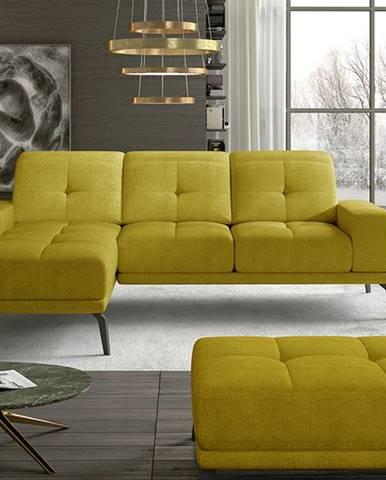 Tirreno L rohová sedačka žltá