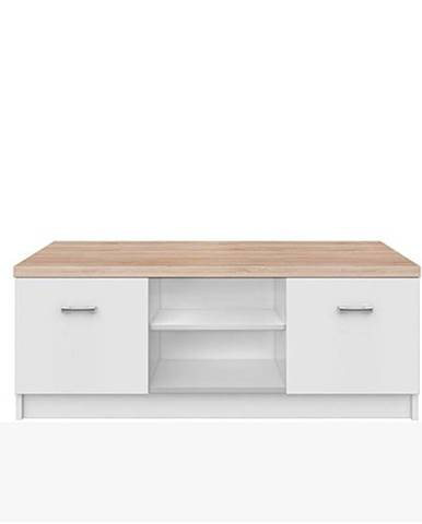 Topty Typ 15 tv stolík biela