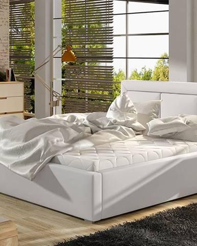 Branco UP 180 čalúnená manželská posteľ s roštom biela