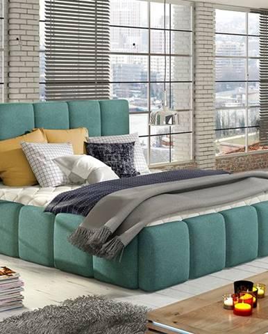 Evora 160 čalúnená manželská posteľ svetlomodrá