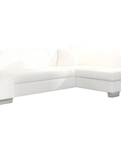 Ferol P rohová sedačka s rozkladom a úložným priestorom biela