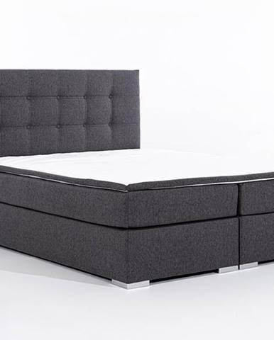 Isola 160 čalúnená manželská posteľ sivá