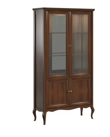 Prato PR-W2 rustikálna vitrína višňa 02