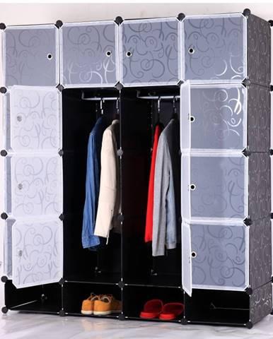 Rodan Typ 2 šatníkový organizér čierna