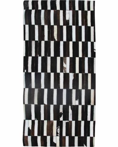 Typ 6 kožený koberec 69x140 cm vzor patchwork