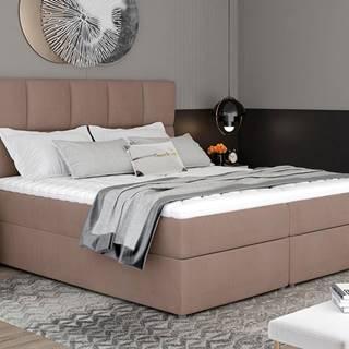 Grosio 145 čalúnená manželská posteľ s úložným priestorom hnedá