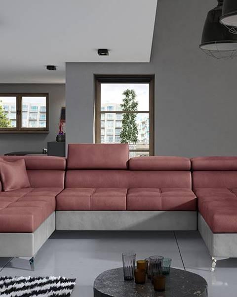 NABBI Enrico U L rohová sedačka u s rozkladom a úložným priestorom bordová