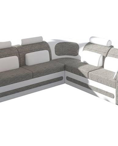 Bolzano L rohová sedačka s rozkladom a úložným priestorom sivá (Berlin 01)