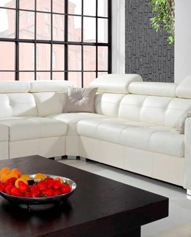 Etna II L kožená rohová sedačka biela (Madras white)