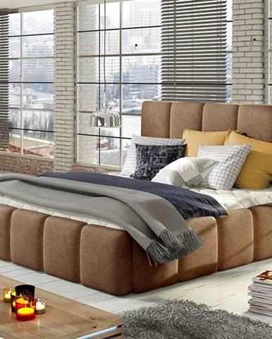 Evora 160 čalúnená manželská posteľ tmavohnedá (Dora 26)